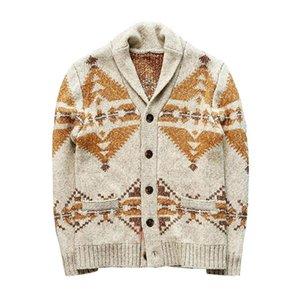 Homens Inverno Sweater Casual Imprimir Natal Sweater Cardigan Aqueça Moda Cardigan masculino Camisolas aquecidos Tops do revestimento do revestimento