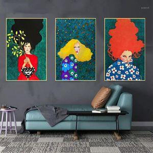 추상 현대 레이디 DIY 유화 벽 아트 그림 벽 아트 40x50cm1에 대 한 수제 오일 캔버스 그림