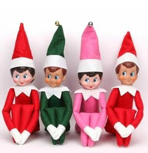 NEW 10 Styles Christmas Elf Doll Plush toys Elves Santa dolls Clothes on the shelf For Christmas Gift DHL Free shipping