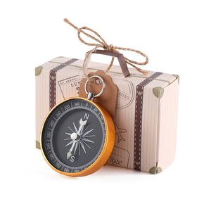 Wedding Gifts for Guest Suitcase Candy Gift Box Bag Christening Compass Favor Baptism Wedding Souvenir Party Decoration