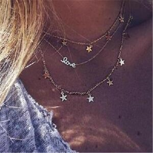 Velvet Pendant Short Chokers For Ahmed Letter Gold Necklace Laces Fashion Love Women Stars Pendants Necklaces Chain Jewelry tsetOvP