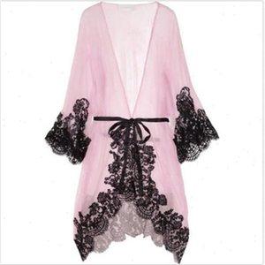 Local stock Women Sexy Sleepwear Chemise Kimono Sleep Nightie Gown Bath Robe Coat jacket Drop Shipping