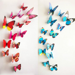 12PCS Butterfly Wall Stickers Butterfly 3D Wallpaper PVC House Decoration High Quality Wall Stickers Wallpapers For Living Room