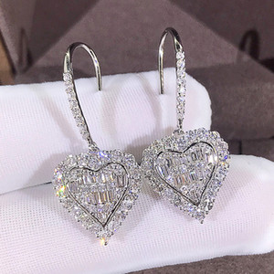 Find Similar Fashion diamond hoop earrings aretes for lady women Party wedding lovers gift engagement jewelry for Bride