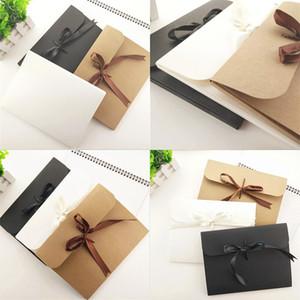 24 * 18 * 0.7cm Grande enveloppe de photo de photo de photo Kraft Boîte d'emballage Cas d'emballage en papier blanc enveloppe de cadeau pour écharpe en soie avec boîte à ruban DHL 8 N2
