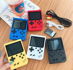 Mini Handheld Game Console Retro Portable Video Game player Can Store 400 Games 8 Bit 3.0 Inch Colorful LCD Cradle Design