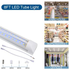 LED shop lights 4ft 8ft LED Tube Light V Shape Integrated Tubes 4 5 6 8 ft Cooler Door Freezer LED Lighting