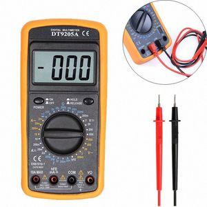 1PCS LCD multimetro digitale DT9205A AC / DC amperometro Corrente Resistenza Tensione Capacità Volt Amp Ohm Meter con il tester della sonda Ftgm #