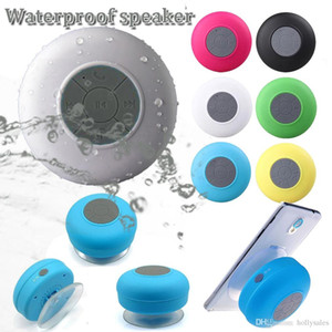 Fashion BTS 06 waterproof wireless hifi stereo bass speaker wall stand shower MP3 music bluetooth player for bathroom DHL shipping
