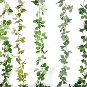 2m Wedding Decoration Backdrop Eucalyptus Garlands Artificial Plant Leaves Vines Wall Hanging Garland Wedding Table Decor