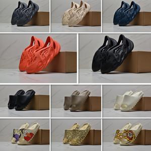 2020 Summes Fashion kanye West Cream White Earth Desert Sand Foam Runner Slides Mens Womens Slippers Sandals With box US 3789406