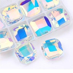 Miglior qualità 20mm forma quadrata pendente cristallo strass perline gens per collana orecchino accessori gioielli fai da te 1 jllkbe