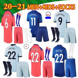 2021 costume jersey de football # 10 pulisic # 22 ziyech # 29 Hauvertz Hommes à la maison 3ème chemise de football Uniforme de football personnalisé
