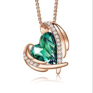 Новые аксессуары для продукта многоцветный ангел ожерелье женское кулон ожерелье высокого качества роскошь кристалл ожерелье женское аксессуар