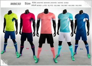 2020-2021 Customize Team Set Adult Kids Soccer Jersey Set Football Kit Men Children 4XS-5XL Blank Training Uniforms M8630