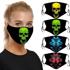 Halloween Decoration 3D Design High Quality Mask Skull Head Pattern Breathable Dust Proof Ear Band Adjustable Mask