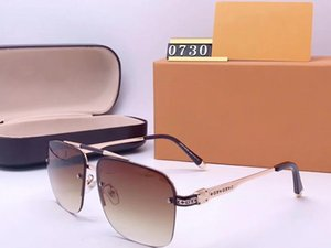 0730 design sunglasses For mens women Popular Fashion sunglasses UV protection big connection lens Frameless Top Quality Come With Package