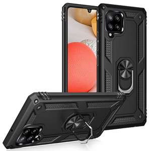 Ağır Hizmet Tutucu Kapak Halka Braketi Manyetik Tutucu Darbeye Kickstand Kılıf Samsung Galaxy A42 5G A01 Core M01 Core A11 A21 A01 A41