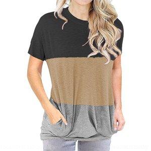 Onxs T Shirt irregular Wowan Color Sólido Atrás Femme 2019 Tops Vetement Frontal Corto Frente T Shirts Kawaii Plus Tamaño Moda Y200109