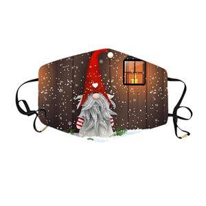 25 1pcs Merry Christmas Party Mask Windbreak Seamless Mouth Mask Snowman Santa Claus Elk Printing Outdoor Riding Mask Mascara yxlarP