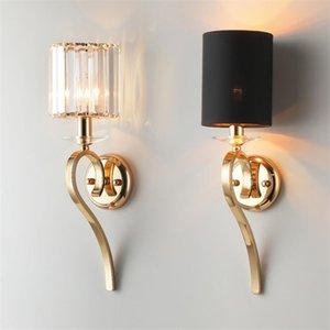 Post-moderno LUSTER Lampade da parete di cristallo Lampade da camera da letto Soggiorno Designer di Prestigio Luxury Mirror Faro Villa Aisle Lights Fixtures