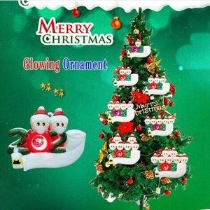 개인 크리스마스 빛나는 장식 DIY 이름 펜던트 파티 선물 홈 인테리어 DDA665 매달려 가족 크리스마스 트리 살아 남았