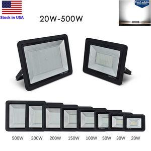 Led Projektörler 20W 30W 50W 100W 150W 200W 300W 500W Açık Taşkın Işıklar Peyzaj IP65 Çalışma Işık 6000K aydınlatma