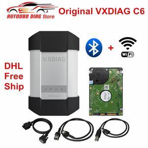 Original VXDIAG C6 Car & Truck OBD2 Diagnostic Scanner Tool Better Than C4 C5 Support Bluetooth & Wifi Free Ship