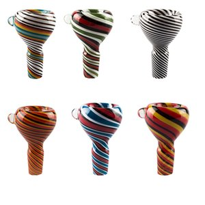 Love_e_cig G086 Full Heady Color 14mm 19mm Male Wig Wag Glass Bowl Splatter Color Glass Pipes Bong Bowls