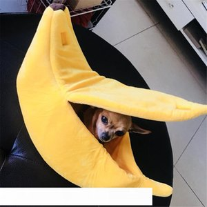 Banana Shape Pet Dog Cat Bed House Mat Durable Kennel Doggy Puppy Cushion Basket Warm Portable Dog Cat Supplies S M L XL