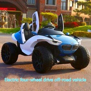 أربعة عجلة دفع الاطفال السيارات الكهربائية الأطفال سيارة كهربائية 1-10 سنوات ركوب لعبة الطرق الوعرة للأطفال ركوب على