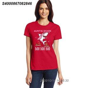 Тетушка Shark тенниска плюс размер S-3XL Старинные люди тенниска с короткими рукавами футболки девушки мальчика майка 43131610