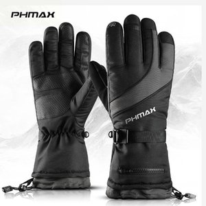 PHMAX Thermal Ski Gloves Men Women Winter Snowboard Heated Gloves Waterproof Touch Screen Keep Warm For Skiing Skating
