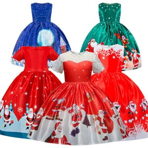 Children's Christmas Dress For Girls New Year Costume Halloween Party Kids Santa Clus Snowman Cosplay Dress Up Xmas Clothing