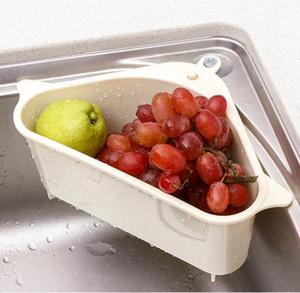 Кухня Раковина Сито овощей и держатели Фрукты хранения Kitchen Sink Ящик для хранения Triangle Полка корзины Кухня Организатор GGE2217