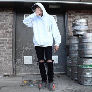 2019 New Designer Hot Fashion Jeans crainte de Dieu Fog Zippers Skinny Slim Fit Jeans Mens Justin Bieber High Street Hommes Casual Jeans