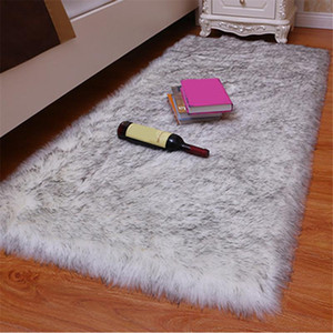 1pc Artificial Wool Carpet Shaggy Fluffy Rugs for Living Room Bedroom LBShipping