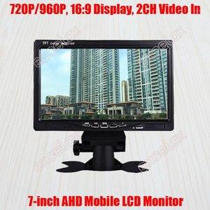 """7 pouces 720p 1mp 960p 1.3mp HD AHD Moniteur mobile 7 """"écran LCD 2CH A / V Vidéo Vidéo Vue arrière pour la surveillance de la vidéosurveillance Montage du véhicule1"""