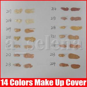 Nueva base de maquillaje componen la cubierta extrema líquido de cobertura Fundación hipoalergénico 30g impermeable barato de la piel Corrector de color 14