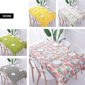 Linen Cotton Tablecloth Nordic INS Home Modern Table Cover Rectangular Coffee Party Decorations Table Cloth