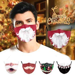 Счастливого Рождества маска для лица маски для маски мультфильм взрослые мацерина хлопок многоразовые моющиеся пылезащитные маски