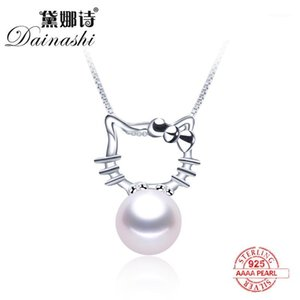 Lockets 100% Natural Freshwater Pearl Necklace 2021 Fashion Katie Pendant 925 Sterling Silver Cute Zircon Fine Jewelry Gift For Women1