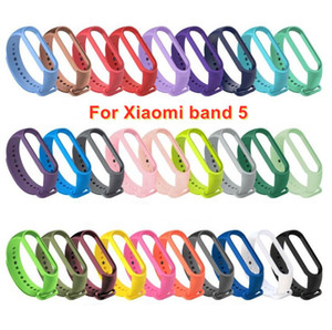 For Xiaomi Mi Band 5 Strap Silicone Wristband Replacement soft TPU Strap Bracelet for xiaomi miband 5 Wrist Strap Factory Price