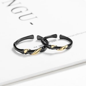 Couple Rings Exquisite Ink Bamboo and Golden Vines Love Ring Girls Valentine's Day Gift