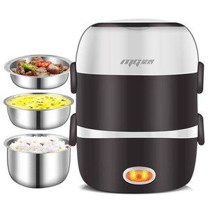 Mini Reiskocher Thermalheizung Elektrische Lunchbox 2/3 Schichten Tragbare Dampfer Kochbehälter Mahlzeit Lunchboxwärmer