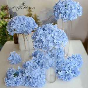 11pcs lot Amazing colorful decorative flower for wedding party  artificial Hydrangea silk DIY flower decoration for home 1022