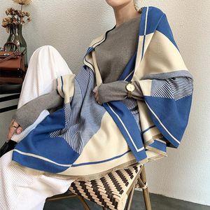 Winter Scarf Women Design Shawls Warm Lady Cashmere Scarves Thick Blanket Horse Animal Wraps Bandana 2020 New
