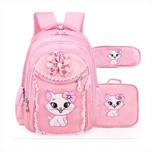 School Bags Sweet Cat Children Cartoon School Bags Pupil Girl Korean Cute Princess Backpacks Mochila Infantil