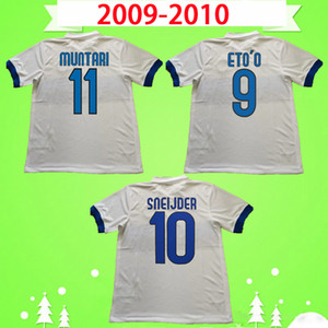 inter milan jersey 2009 2010 camisa de futebol Retro 09 10 J.ZANETTI SNEIJDER MUNTARI QUARESMA Eto'o J.ZANETTI MILÃO MILITO camisa de futebol do vintage clássico