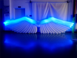5m LED giant inflatable angel wings for events decoration